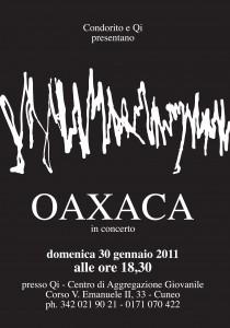 """30/01/2011  oAxAcA Live per le domeniche """"Condorito reloaded"""" al Qì (CN)"""
