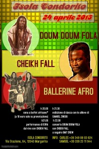 Venerdì 24 Aprile 2015–Festa Africana + BMT CREW