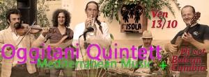 VEN 13/11  Oggitani Quintett + Balcan Cumbia