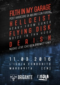 Ven 11 Marzo Filth In My Garage / Flying Disk / Hellgeist / Derish // Live at L'isola Condorito