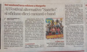 "Press: dicono di Noi     ""SANRITO FESTIVAL"""